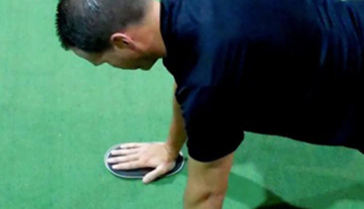 1 Tall Plank Shoulder Circles (start)