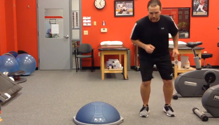 BOSU repeat stepping drills