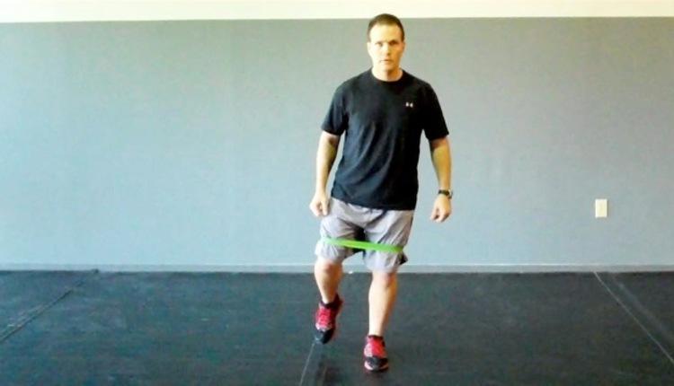 Skater squat (start)