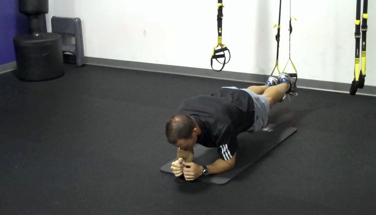 TRX Plank Push-up Start